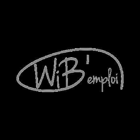 logo du client wib emploi en noir et blanc