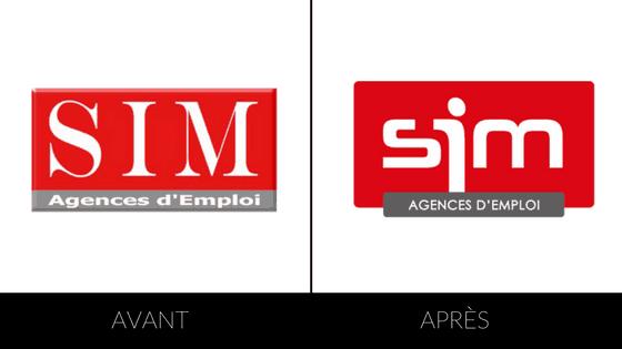 évolution du logo sim
