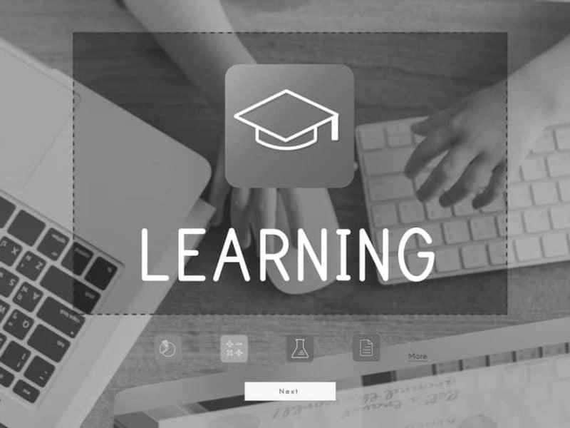 photo illustrant le concept de e-learning